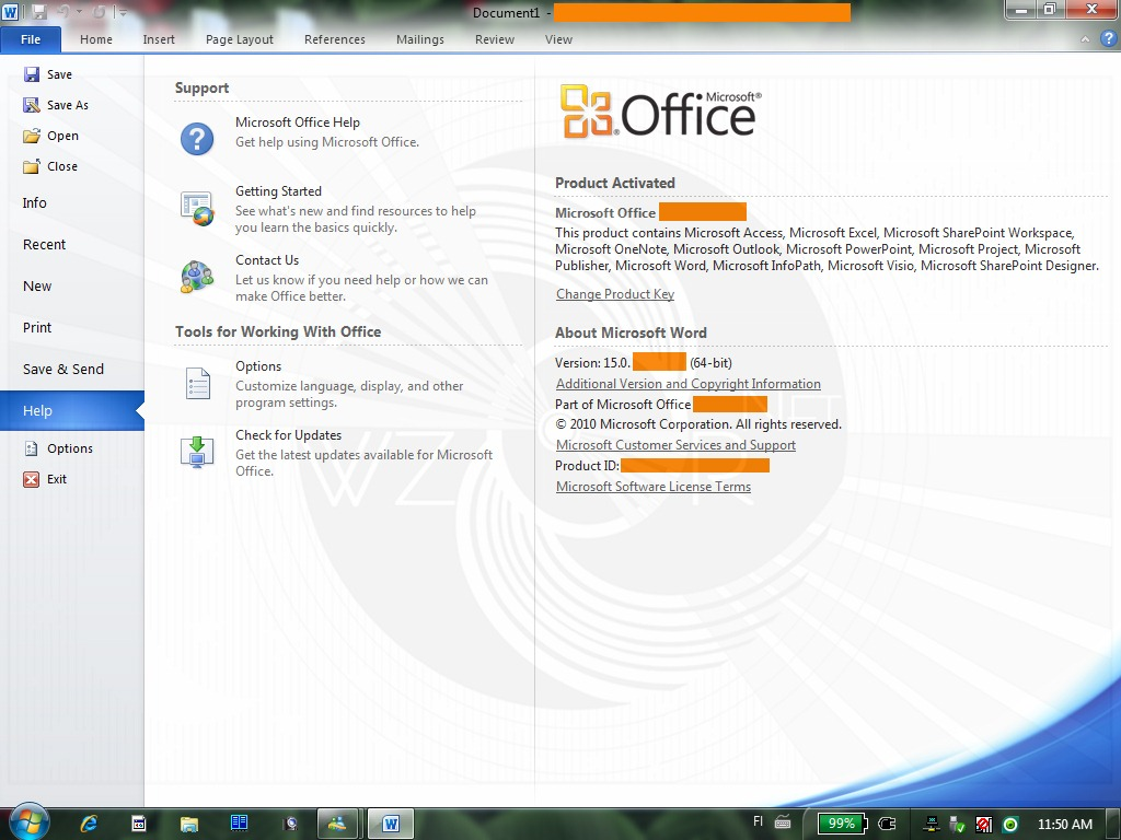 Microsoft Office 2010 VL Professional Plus.